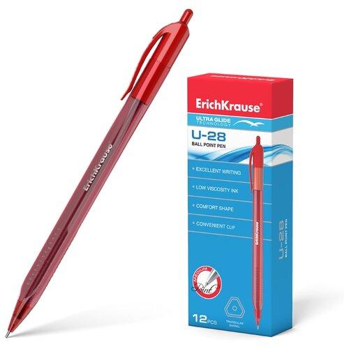 Купить ErichKrause Набор шариковых ручек Ultra Glide Technology U-28 12 шт., 1 мм (33530/33528/33529), красный цвет чернил, Ручки