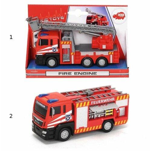 Фото - Пожарный автомобиль Dickie Toys 3712008, 17 см, красный гидроцикл dickie toys пожарный сэм джуно с фигуркой и аксессуарами 9251662 красный желтый