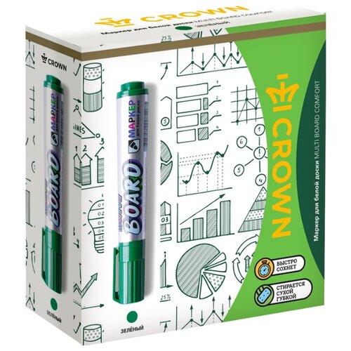 CROWN набор маркеров Multi Board Comfort,зеленый, 12 шт. (WB-1000)
