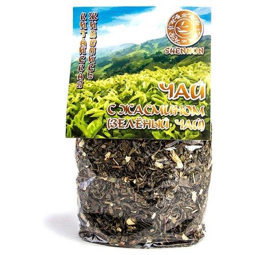 Чай зеленый Shennun с жасмином, 200 г чай листовой первая чайная компания хуа чжу ча с жасмином зеленый 100 г