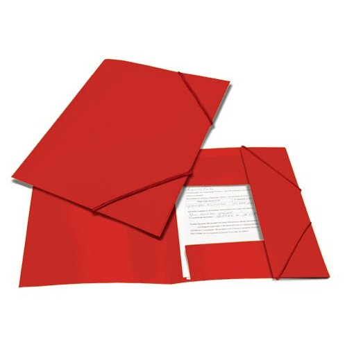 BRAUBERG Папка на резинках Contract A4 красная папка brauberg a4 390x315x120mm black 223082