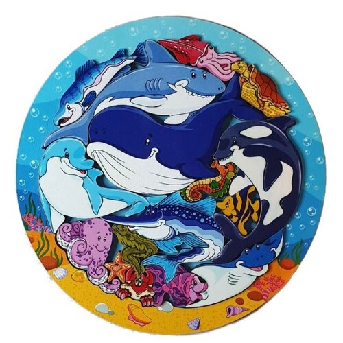 Купить Зоопазл Подводный мир , 16 деталей, Нескучные игры, Пазлы