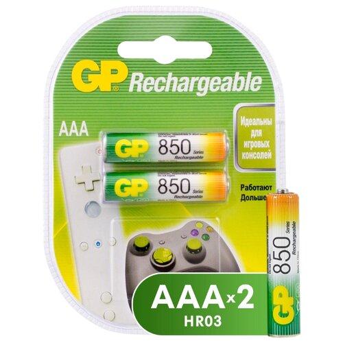 Фото - Аккумулятор Ni-Mh 850 мА·ч GP Rechargeable 850 Series AAA 2 шт блистер аккумулятор ni mh 1000 ма·ч gp rechargeable 1000 series aaa usb светильник 4 шт блистер
