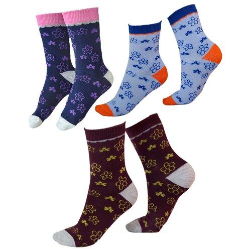 Носки IDILIO комплект 3 пары размер 16-18 см, бордо/голубой/темно-фиолетовый носки nexx размер 18 20 см голубой