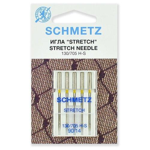 Игла/иглы Schmetz Stretch 130/705 H-S 90/14 серебристый