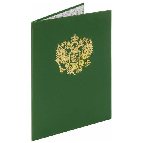STAFF Папка адресная Basic с гербом России А4, бумвинил зеленый officespace папка адресная с гербом а4 балакрон синий