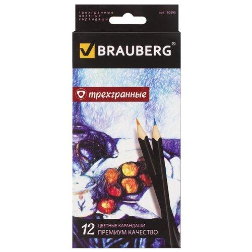 Купить BRAUBERG Карандаши цветные Artist line 12 цветов (180596), Цветные карандаши