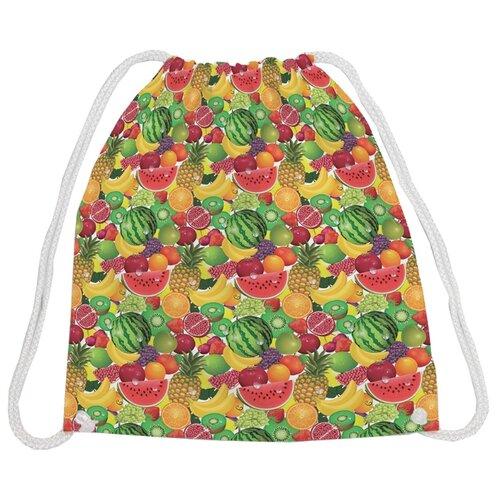 Купить JoyArty Рюкзак-мешок Фруктовый рай (bpa_27954) красный/зеленый/желтый, Мешки для обуви и формы