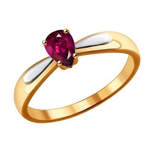 SOKOLOV Кольцо из золота с рубином 4010627, размер 18