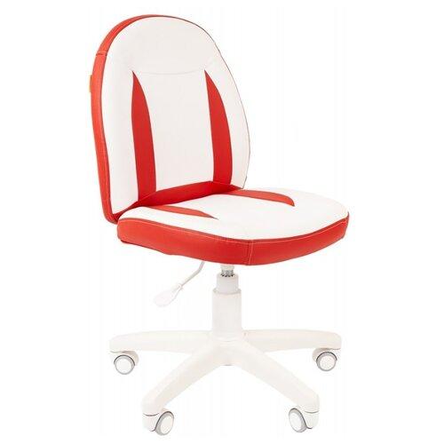 Компьютерное кресло Chairman Kids 122 детское, обивка: искусственная кожа, цвет: белый/красный