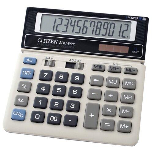 Калькулятор бухгалтерский CITIZEN Citizen SDC-868L белый калькулятор citizen sdc 395n sdc 395 n
