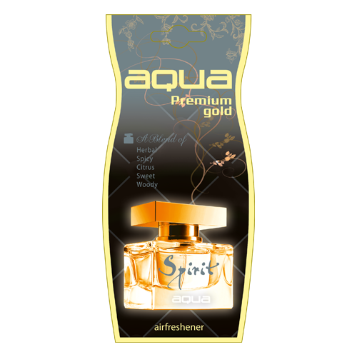 цена на Aqua Ароматизатор для автомобиля Premium Gold Drop Spirit 12 г