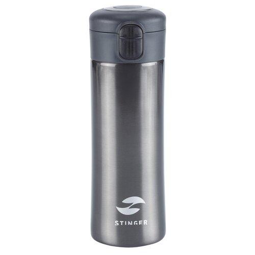 Термокружка Stinger, 0,35 л, сталь/пластик, чёрный глянцевый, 8,4 x 7 x 21,2 см