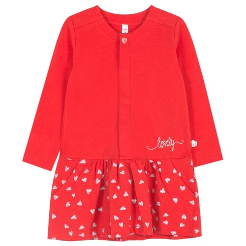 Платье COCCODRILLO LOVE YOU LOT'S размер 86, красный