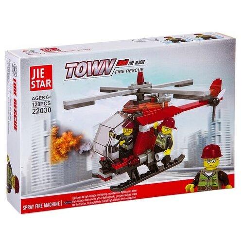 Купить Конструктор Jie Star Town 22030 Пожарный вертолет, Конструкторы