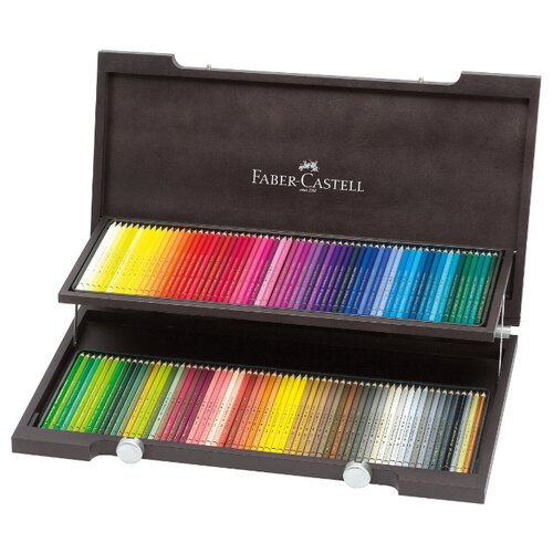 Купить Faber-Castell Карандаши акварельные Albrecht Durer, 120 цветов, деревянная коробка (117513), Цветные карандаши