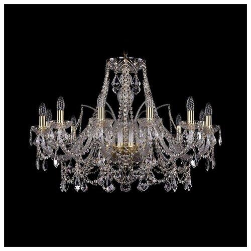 Люстра Bohemia Ivele Crystal 1411 1411/12/300/G/Leafs, E14, 480 Вт bohemia ivele crystal подвесная люстра 1411 12 380 72 g