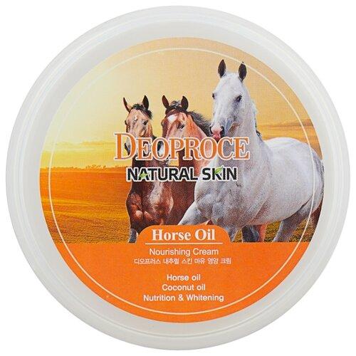 Фото - Крем для тела Deoproce Natural Skin Horse Oil Nourishing Cream, банка, 100 г крем для тела deoproce natural skin olive nourishing cream 100 г
