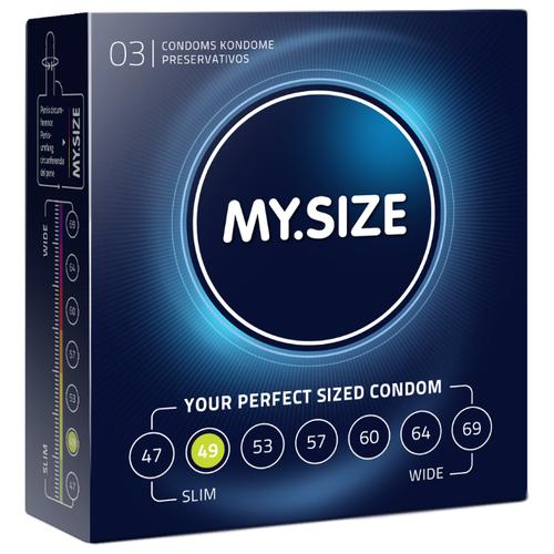 Презервативы MY.SIZE 49*160 (3 шт.) презервативы my size 49 160 36 шт
