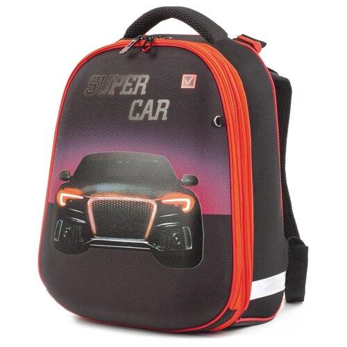 Купить BRAUBERG Ранец Extra Авто (227842), красный, Рюкзаки, ранцы