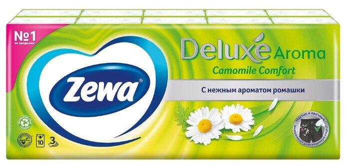 Платочки Zewa Deluxe Ромашка бумажные носовые,