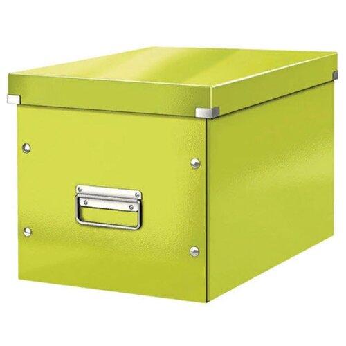 Купить Leitz Короб архивный Click & store WOW L А4, ламинированный картон зеленый, Файлы и папки