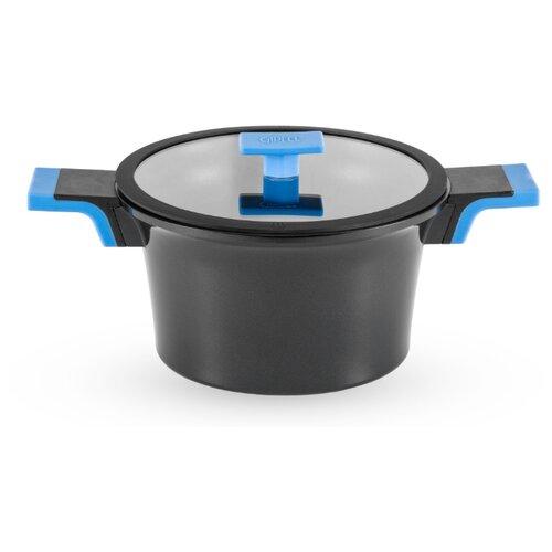 Кастрюля GIPFEL TIFFI 5 л, черный/голубой будильник gipfel 17 11 5 6 см