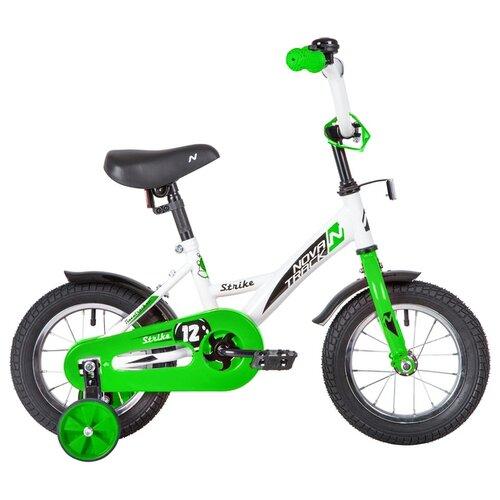 Фото - Детский велосипед Novatrack Strike 12 (2020) белый/зеленый (требует финальной сборки) детский велосипед novatrack twist 20 2020 зеленый требует финальной сборки
