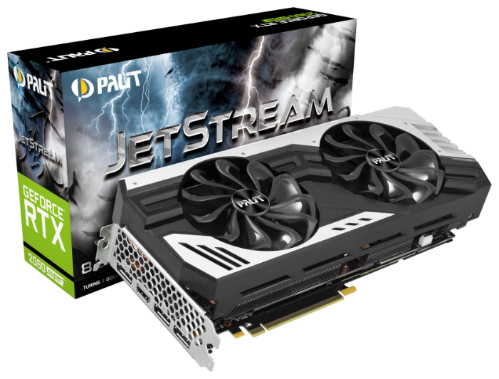 Видеокарта Palit GeForce RTX 2060 SUPER 1470MHz PCI-E 3.0 8192MB 14000MHz 256 bit 3xDisplayPort HDMI HDCP JetStream