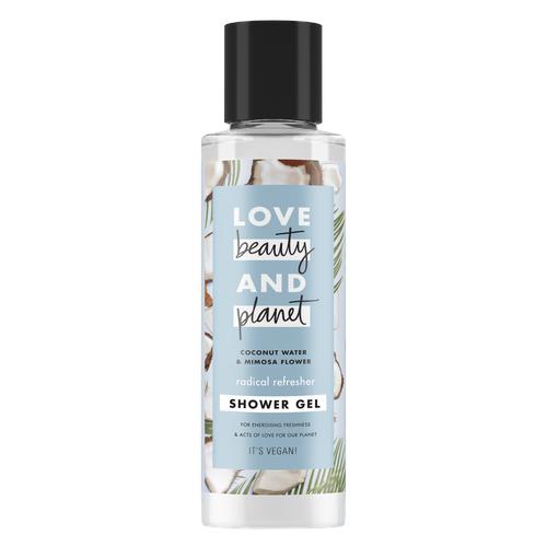 Гель для душа Love Beauty and Planet Кокосовая вода и цветы мимозы, 100 мл гель для душа love beauty and planet чайное дерево и ветивер 400 мл