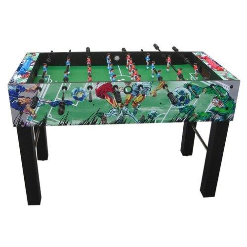 Игровой стол для футбола DFC Valencia GS-ST-1268 черный с рисунком