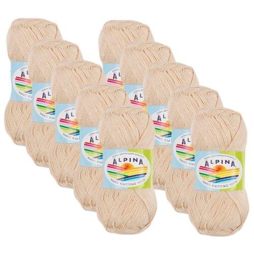 Купить Пряжа Alpina Viven, 100 % бамбук, 50 г, 405 м, 10 шт., №27 св.бежевый