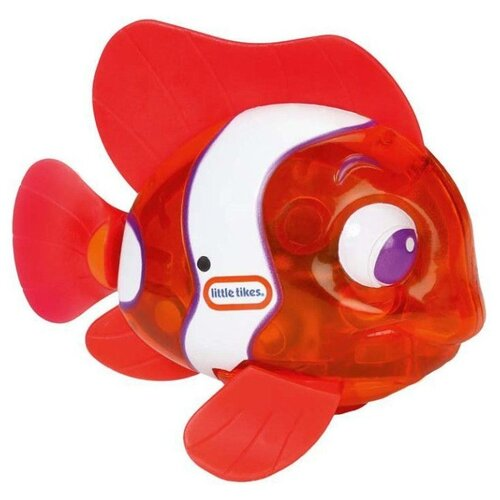 Игрушка для ванной Little Tikes Flicker Fish Рыба-клоун 638220M оранжевый/белый игрушка для ванны robofish роборыбка клоун цвет оранжевый белый