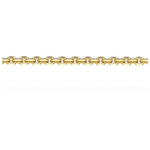 АДАМАС Цепь из желтого золота плетения Якорь одинарный ЦЯ150СА4-А53, 45 см, 4.29 г