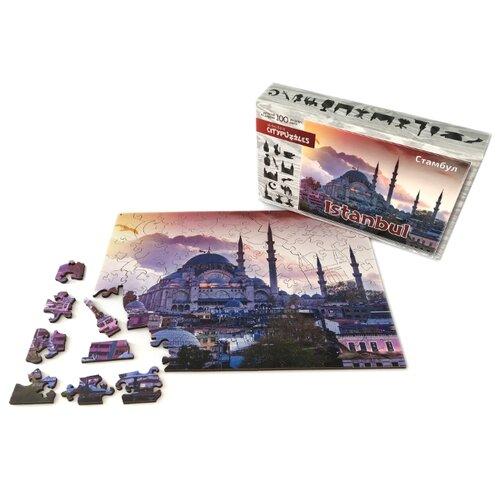 Фото - Фигурный деревянный пазл Citypuzzles Стамбул пазлы нескучные игры деревянный пазл citypuzzles лондон