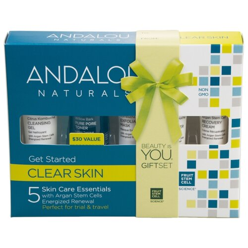 Набор Andalou Naturals Clear skin Комплексное очищение лица glamglow clear skin goals set набор