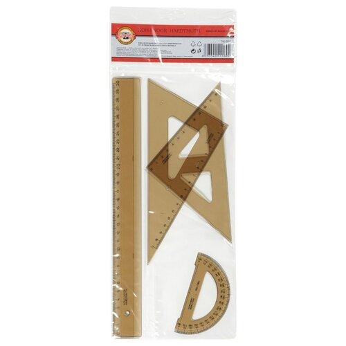 Купить KOH-I-NOOR Набор чертежный большой прозрачный дымчатый 4 предмета (075090100000) коричневый, Чертежные инструменты