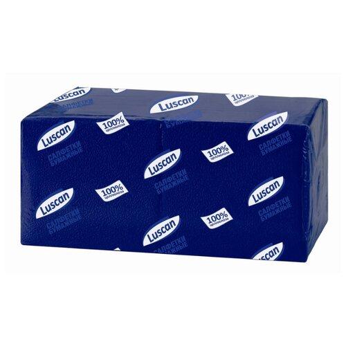 Купить Салфетки бумажные Luscan Profi Pack 1 слой, 24х24 синие 400шт/уп