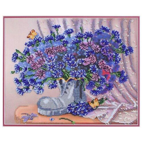 Фото - Hobby & Pro Набор для вышивания бисером Башмачок с васильками 35 х 28 см (БН-3137) фэйзер д алмазный башмачок
