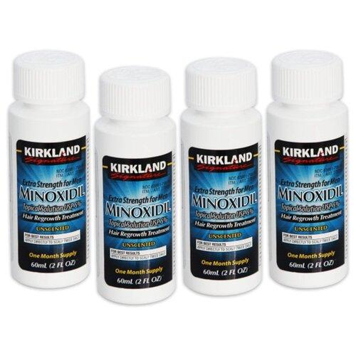 Kirkland Лосьон от выпадения волос Minoxidil 5% без пипетки, 60 мл, 4 шт. relaxivet relaxivet капли spot on успокоительные для кошек и собак 4 пипетки по 0 5 мл