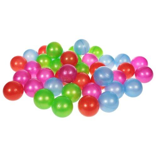 Шарики для сухих бассейнов Нордпласт 40 шт. 8 см (416) красный/фиолетовый/зеленый/синий
