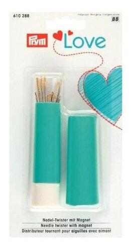 Игольница магнитная Prym 610288 вращающаяся «твистер» «Love» с швейными иглами и иглами для штопки