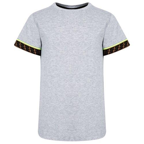Футболка FENDI размер 140, серый футболка fendi размер 140 синий