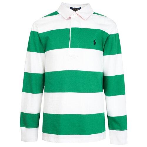 Купить Поло Ralph Lauren размер 92, зеленый/белый, Футболки и рубашки