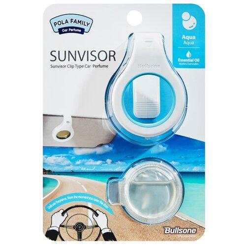 Bullsone Ароматизатор для автомобиля Pola Family Sunvisor Fresh Aqua 4 мл