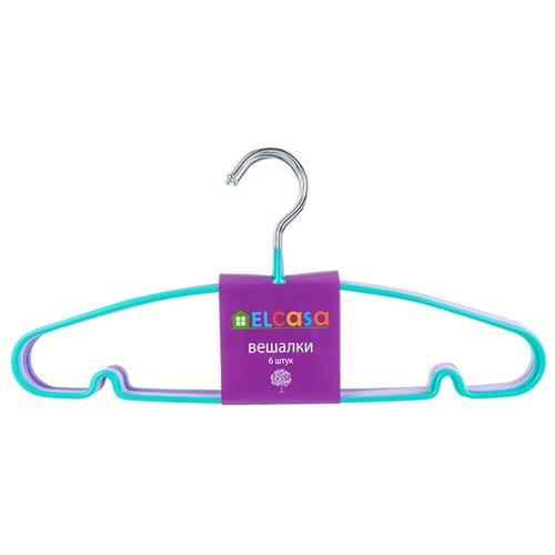 Вешалка EL CASA Набор c антискользящим покрытием Настроение фиолетовый/голубой плед el casa el casa mp002xu0dv2c