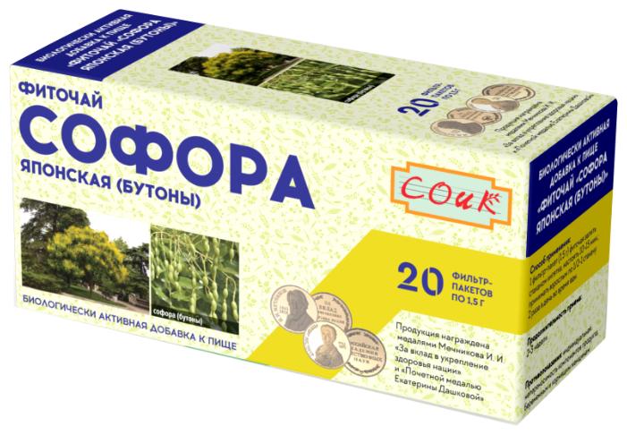 Соик чай Софора японская (бутоны) ф/п 1.5 г №20