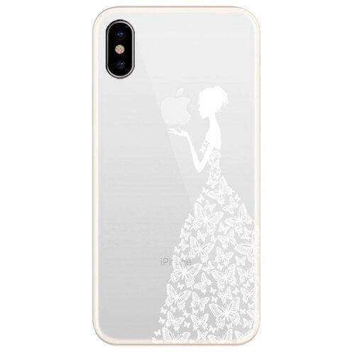 Чехол UVOO U000031APP/U004556APP для Apple iPhone X/Xs Девушка в платье из бабочек 2
