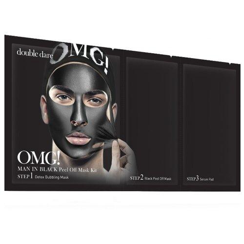 Купить Double Dare OMG! Man in Black Трехкомпонентный комплекс мужских масок «Смягчение и Восстановление» 31 мл