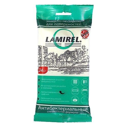 Lamirel Антибактериальные универсальные влажные салфетки 24 шт. для оргтехники